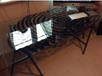 IKEA Thumb Print Design Modern Glass Desk-VGC