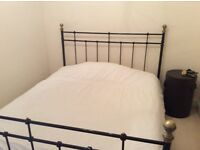 King Size Bed With Mattress, Excellent Condition.