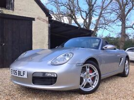 2005 Porsche Boxster 987 2.7 Manual Full Service History NEW MOT with matching rear Continentals