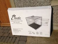 LARGE FOLD FLAT DOG CRATE FOR TRAINING/TRAVELLING