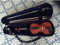 VIOLIN - StentorII violin c/w case, chin rest and bows