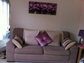 2 Marks and Spencer Mocha Woven fabric sofas.