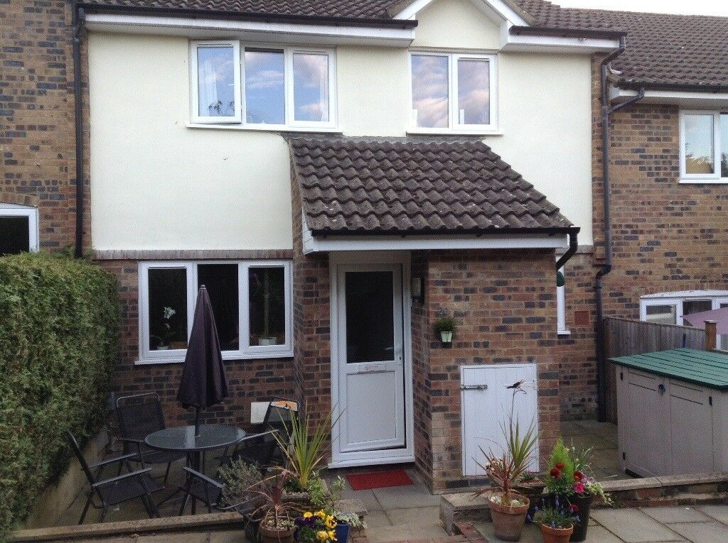 2-bed small back-to-back, easily maintained house on Merrow Park furnished or part/unfurnished