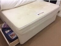 Free King size divan bed with drawers