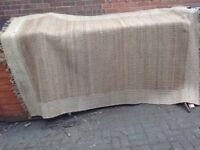 Jute rug: natural colour, good condition