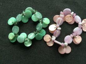 2 Shell/Stone Bracelets