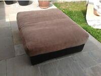 Massive leather footstool