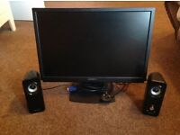 22 inch Emprex monitor and pair of Creative speakers
