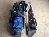 Meridian Genesis golf set 1,3,5 woods 3,4,5,6,7,8,9 Irons, Sand Wedge , Putter & Bag , nice set