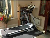 Reebok Z8 treadmill, manual and 12 pre-set programmes, very good condition but worn bearings