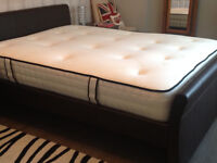 Five foot wide double bed with deep firm cashmere mattress