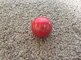 Hand signed Mark Selby red snooker ball