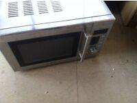 stainless steel microwave oven in every day use