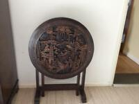 Oriental, Ornamental and foldable side or coffee table