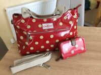 Cath Kidston Large Spotty Bag & Purse