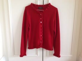 NEW PURE 100% Cashmere Woman Cardigan Size 12