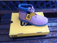 Ladies CAT Boots size 6 pink