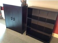 Office furniture - bookcase /shelves and stationary cupboard