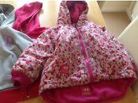 Girls waterproof jacket and GAP tops