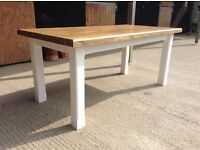 New handmade solid pine dining table 6ftx3ft benches rustic chunky farmhouse shabb chic furniture
