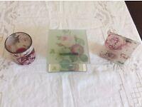 outdoor/indoor pretty floral tea light set