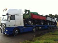LOW LOADER HIRE / PORT COLLECTION & DELIVERY SERVICE FOR VEHICLES / LOADING & WIRE ROPE BONDING
