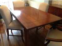 Solid House of Fraser dark wood table & 4 chairs excellent condition