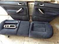 Vw Bora high line heated seats complete with door cards and carbon fibre door handles
