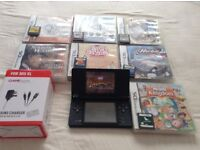 LOOK BLACK POKEMON EDITION NINTENDO DSI WITH CHARGER AND 14 GAMES