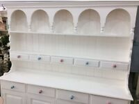 Painted White Dresser with Pastel Knobs