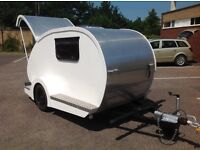 Tear drop caravan with electric hook up and cover, teardrop micro small