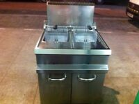 CATERING COMMERCIAL GAS FRYER FAST FOOD RESTAURANT CAFE KEBAB CHICKEN TAKE AWAY KITCHEN BAR SHOP