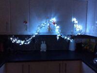 Silver Christmas pre lit garland