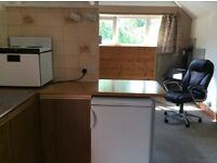 1 bedroom apartment to rent, suit single person, partly furnished. Rural location.