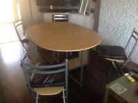 Fold away table and chairs ....SOLD