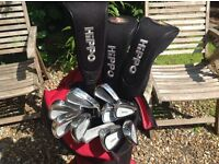GOLF CLUBS HIPPO COMPLETE SET ( AS NEW )