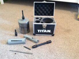 Titan diamond cores drill set