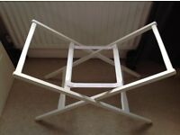 MAMAS & PAPAS DELUXE STAND FOR MOSES BASKET – IVORY