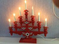 Christmas candle decoration, Vintage