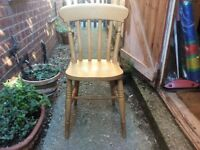 Pine kitchen /dining chair