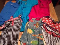 Selection of girls gymnastic leotards and swim suits, some unused. Ages 8-11 years old.