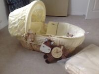 Moses Basket + extras