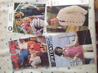 Vintage 1970's knitting patterns