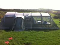 Outwell Montana 6 Tent with Front Awnong, Footprint and Carpet
