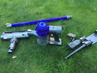 DYSON V6 ANIMAL RECHARGEABLE VACUUM CLEANER FOR PARTS-NEEDS NEW BATTERY