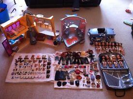 Bratz dolls, house, spa, motorbike, car and accessories
