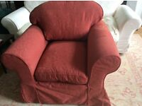 Loose cover chair in excellent condition. Only Selling as no room for it