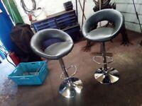 2x Grey bar stools