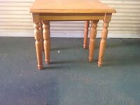 Nest of 2 pine tables £5