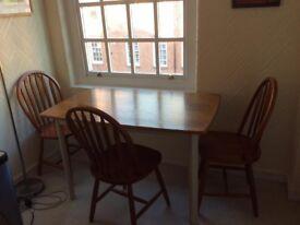 Table & chair set- solid teak, excellent condition